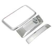Triple Chrome Tailgate Handle Cover Keyhole ABS Plastic 3M Adhesive Tape For Chevy Silverado 1500 GMC