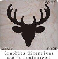 Deer head wooden dies MY / Scrabooking