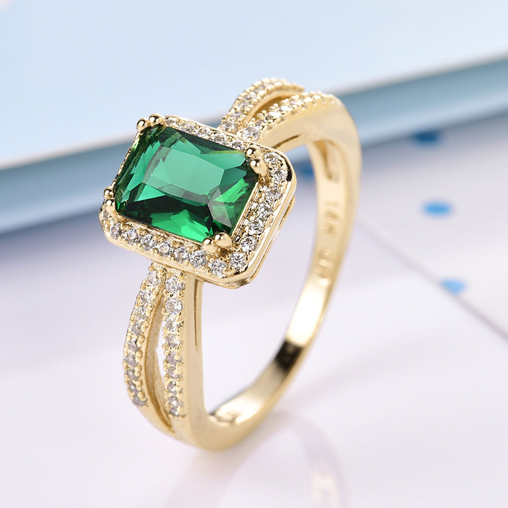 gift green cubic finger for blue moliam item stone zircon jewelry light rings fashion square ladies from in trendy engagement