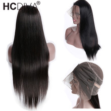 360 Lace Frontal Wig Straight Lace Front Human Hair Wigs Pre Plucked With Baby Hair 150% Remy Brazilian Wig For Black Woman