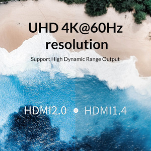 Image 3 - Unnlink HDMI Splitter 1X2 HDMI2.0 UHD 4K@60HZ 4:4:4 HDR HDCP 2.2 18Gbp 3D for LED Smart tv mi box ps4 xbox one switch projector