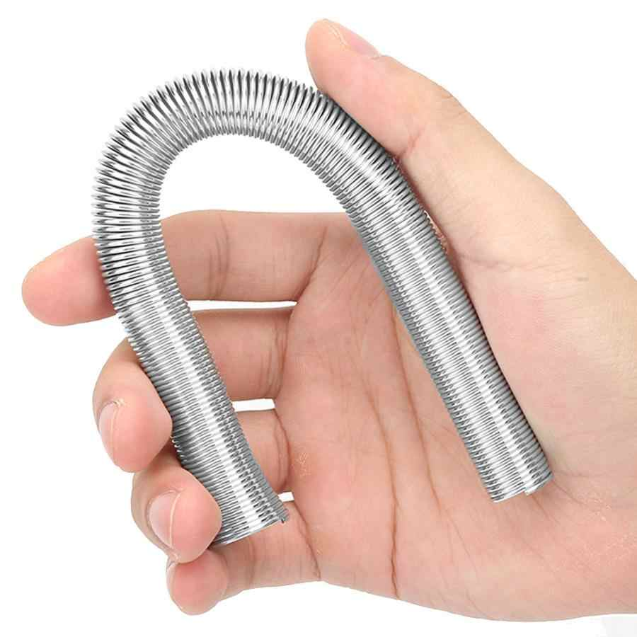 5Pcs 21cm Super Elastic Steel Spring Tube Bender PVC Electrical Wire Bending Pipe New