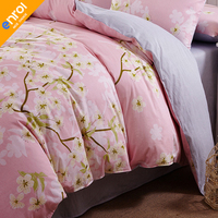 Duvet Cover Cotton Twin Queen King Stripe Printed For Kids Adult Europe Flowers Bedding For Home