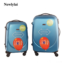20/24/28 inches Newlylai ABS luggage gift suitcase Men and women check-in luggage wanxianglun lockbox