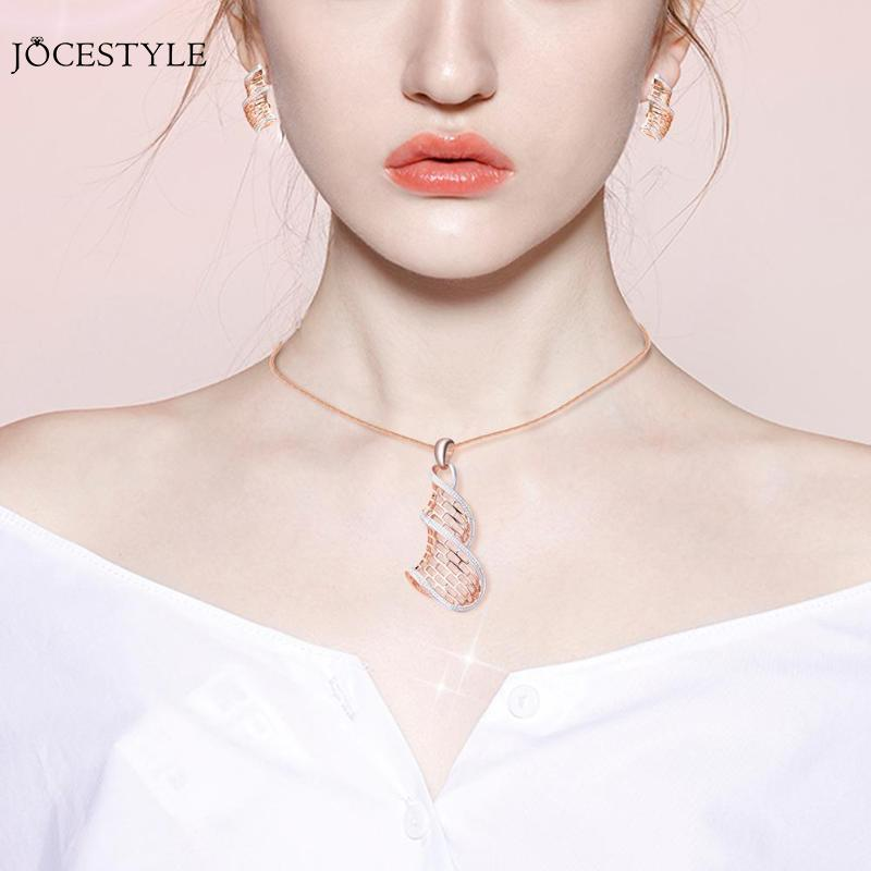 Temperament Jewelry Sets Fashion Women Jewelry Sets Necklace Earrings Party Accessories Opal Animal Fox Clavicle Chain