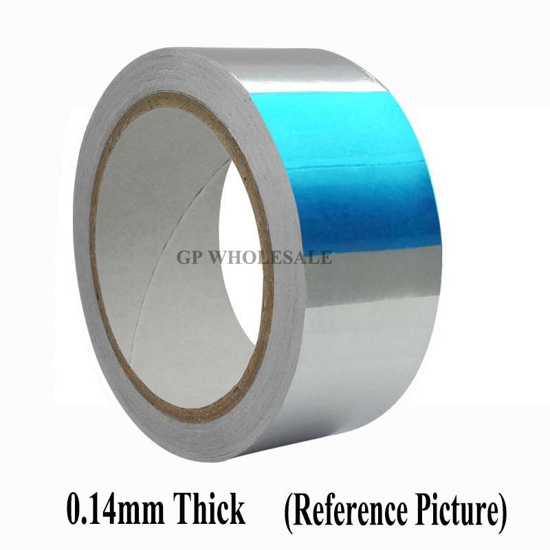 купить 0.14mm Thick, (90mm*25M) Single Side Conductive Conductive Electrostatic shielding Aluminum Foil Adhesive Tape fit for LCD по цене 4323.96 рублей
