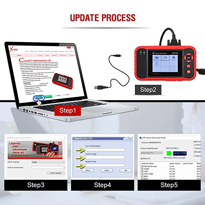 Image 5 - Launch X431 Creader CRP129 Auto Code Reader OBD2 Scanner OBDII Diagnostic Tool Car Automotive Scan Tools Creader VIII 8 ABS SRS-in Code Readers & Scan Tools from Automobiles & Motorcycles