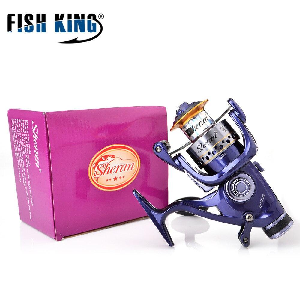 Рыбы Король высокое качество SH3000-SH6000 8BB 5:2:1 Системы катушки СЗАДИ ПЕРЕТАЩИТЕ вращается вправо/влево для подачи Карп Рыбалка колеса