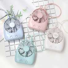 Free Shipping 2018 New Usb Rechargeable Cute Mini Fan Desktop Electric Small Portable Handheld LED Lighting