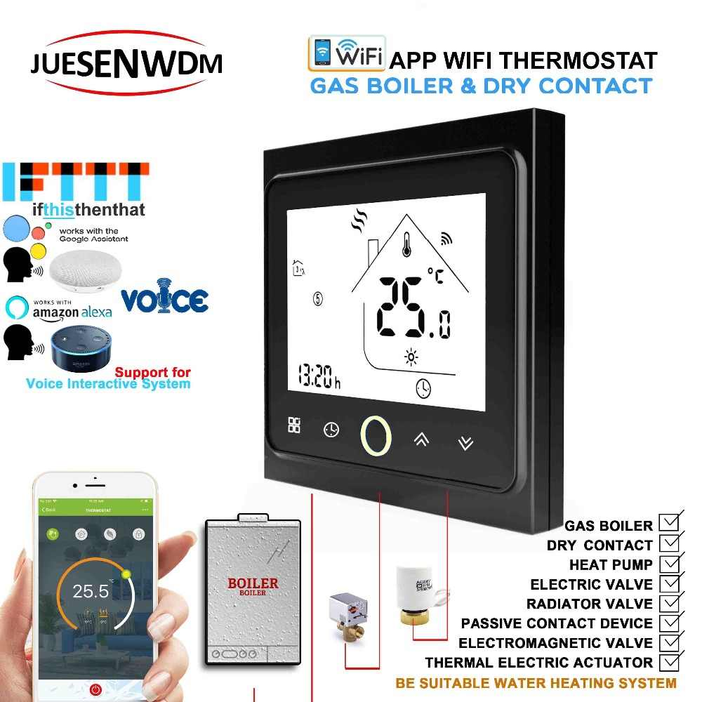 IOT Works with IFTTT Alexa Google home dry contac,Passive connection Wall  Gas Boiler Thermostat For Room Central Heating System