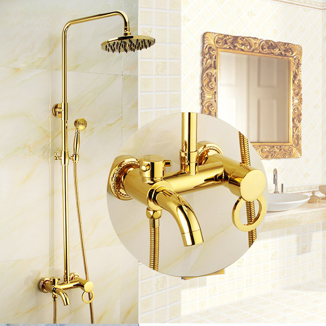 BECOLA Free shipping luxurious shower set gold colour shower set ...