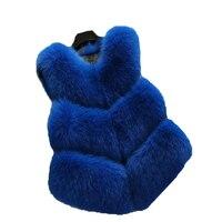 New winter fox fur vest faux fur vest women jacket mink waistcoat outerwear short paragraph Leather grass fur coat gilet WA660