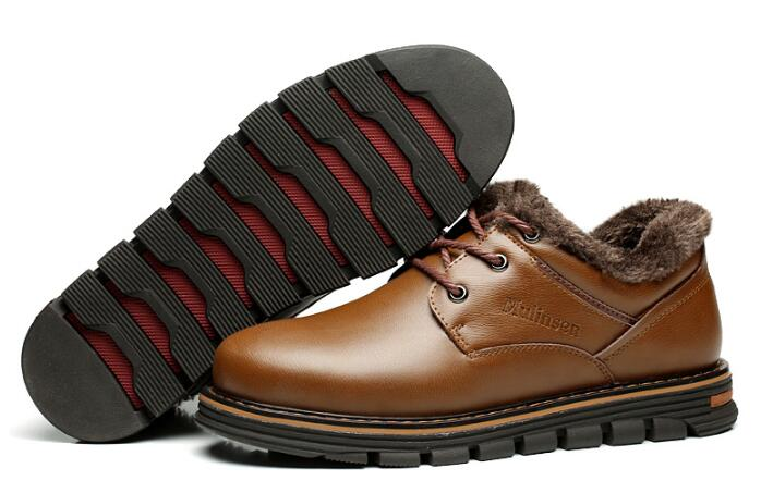 260087 MULINSEN Men Winter Boots Snow Boots for Men top quality Warmest Genuine Leather shoes