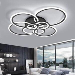 Image 4 - Светодиодный потолочный светильник VVS Современный Простой Круглый Модные круглые светодиодный светильник гостиная столовая кабинет спальня