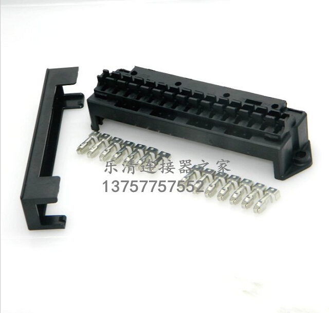 цена на 15 Way Auto fuse box assembly With terminals and 4PCS Relay seats Dustproof fuse box fuse box mounting fuse box