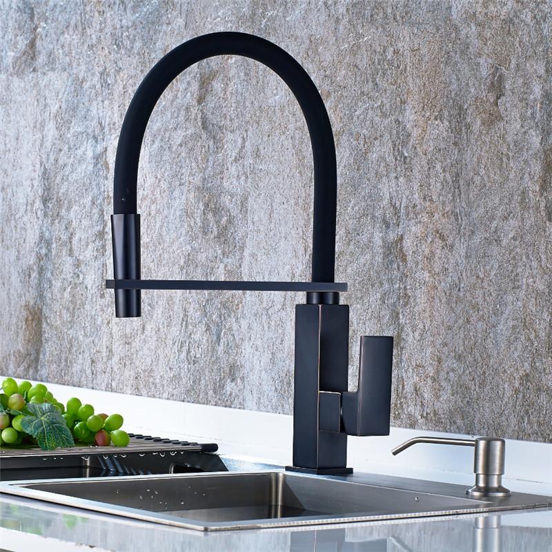 pi nuovo rubinetto della cucina pull out gi rotazione di 360 gradi nichel spazzolato orb single