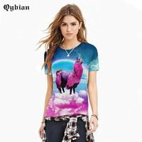 Summer Short Sleeve Creative 3D Color Cloud Horse T Shirts Animation Cartoon Print T Shirts Fashion