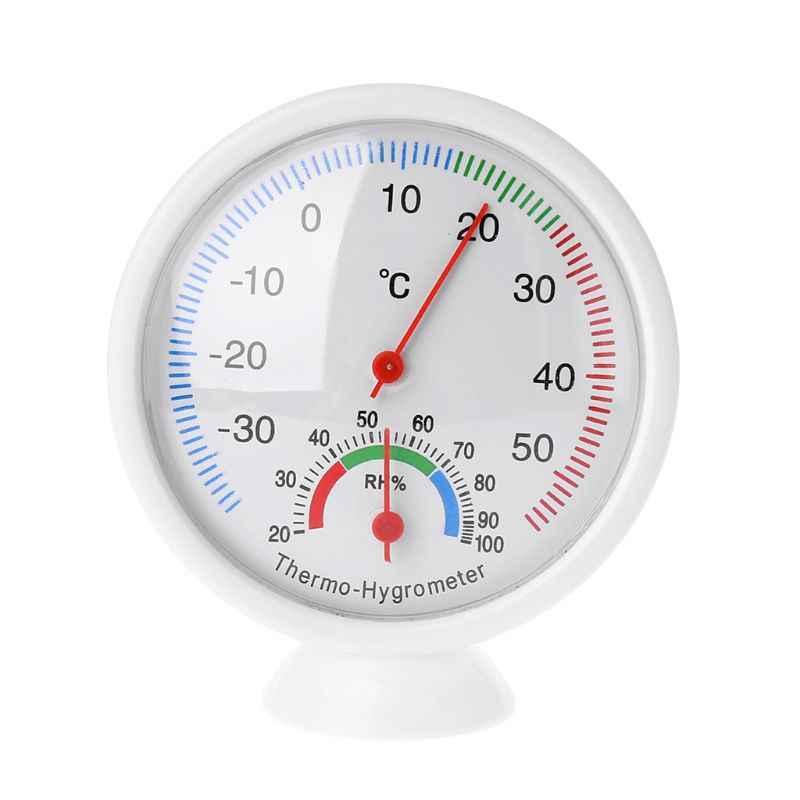 Termómetro exterior Interior medidor de humedad higrómetro de temperatura en forma de reloj