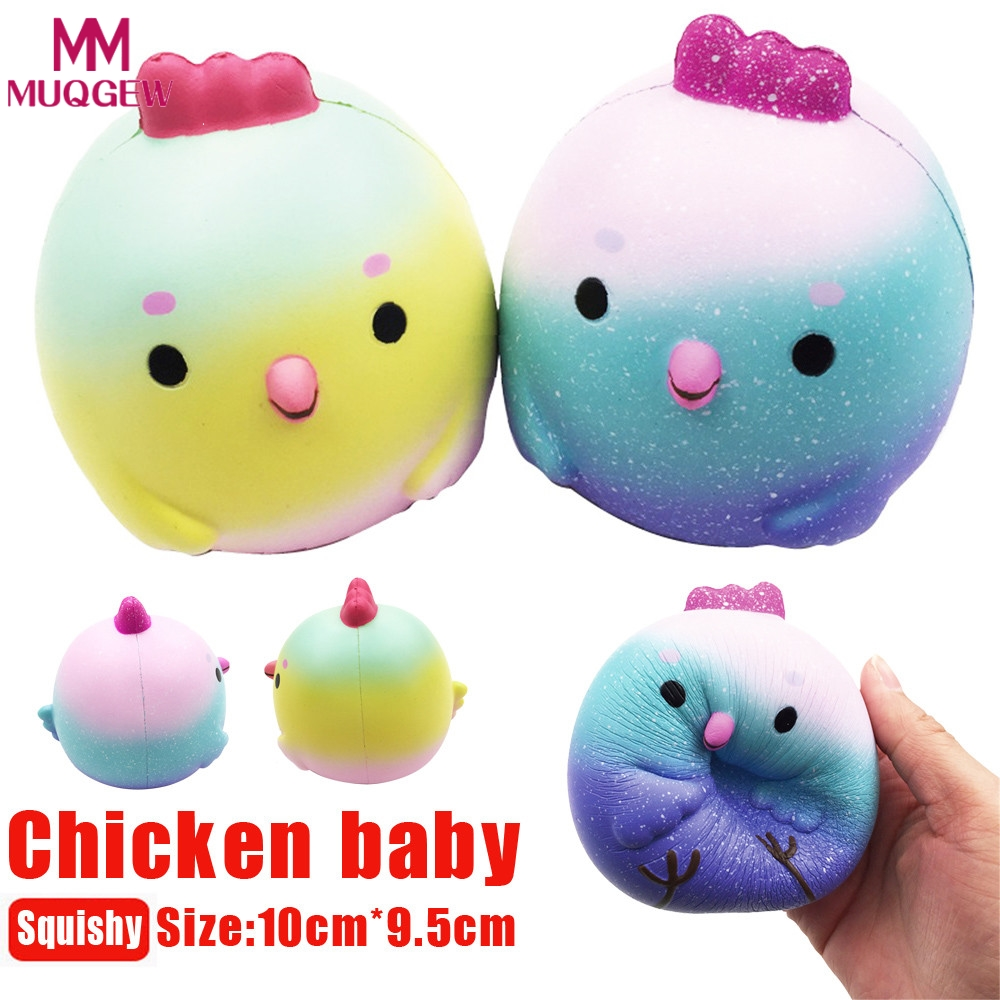 2018 Stress Reliever Squishy Chicken Baby Squeeze Slow Rising Cream Scented Decompression Cure Toy