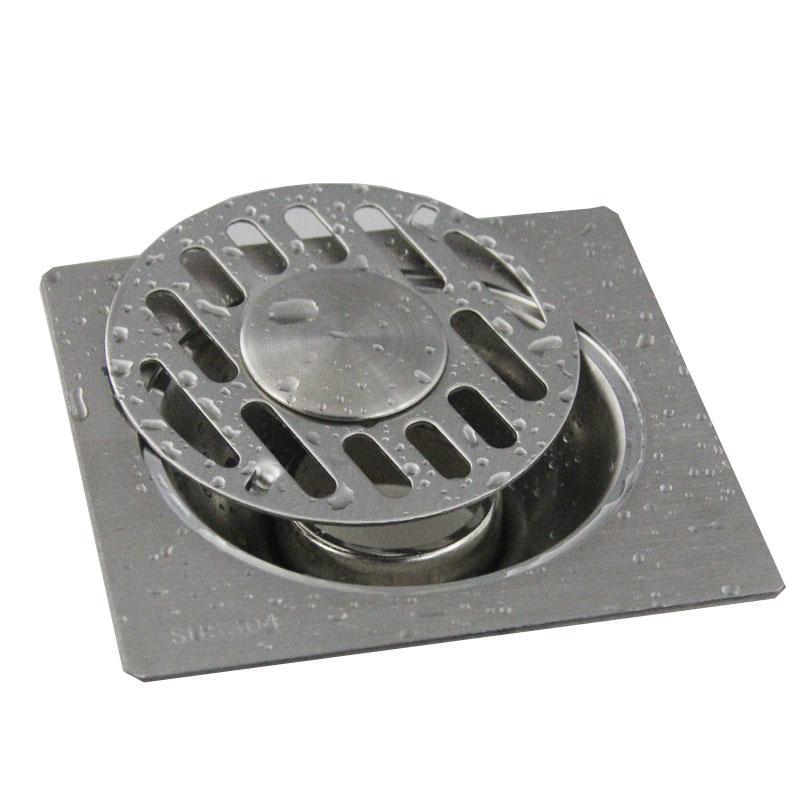 stainless steel round hair shower drain cover toilet bath strainer filter floor drain trap bathroom drainage