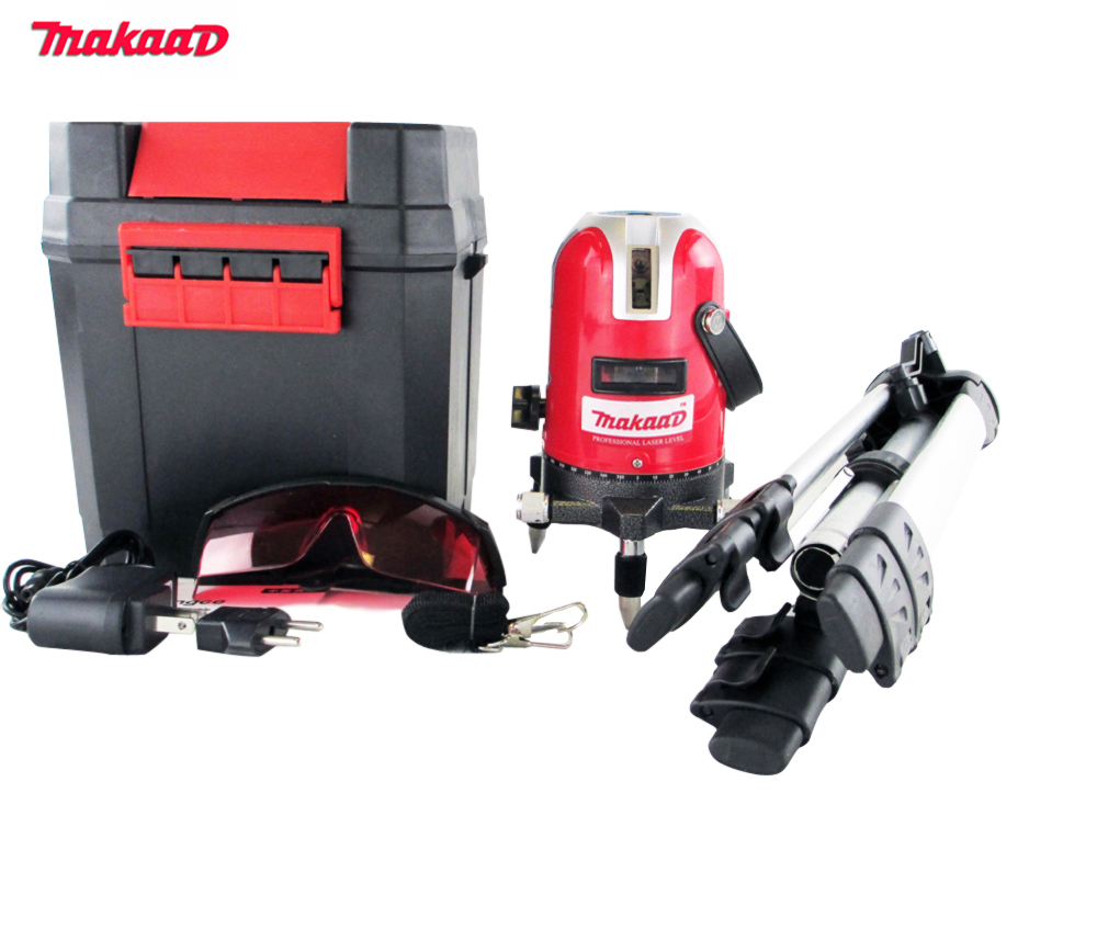 Brand 5 lines 6 points laser level 360 rotary cross laser