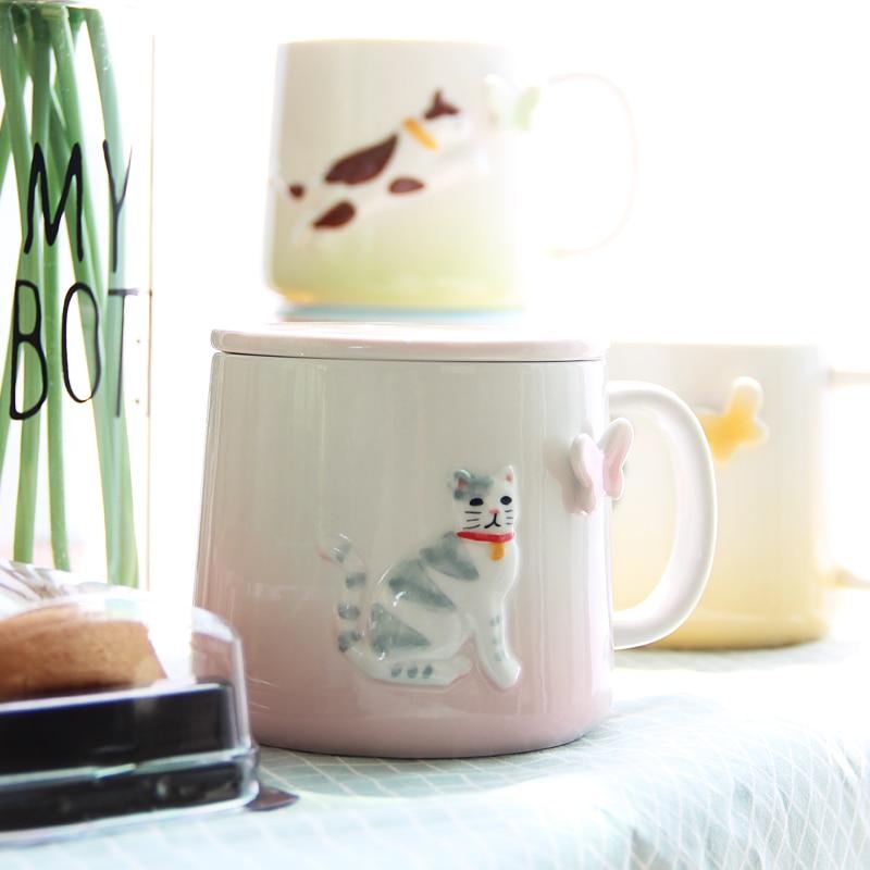 ✓Una taza caliente personalizada gato con tapa taza de té de ...