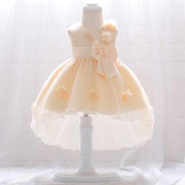 a8e29e055a 2019 Summer Clothes Newborn Christening Dress For Baby Girl Frock Princess  Girls Party Baby Birthday Flower Dress 3 6 9 12 Month