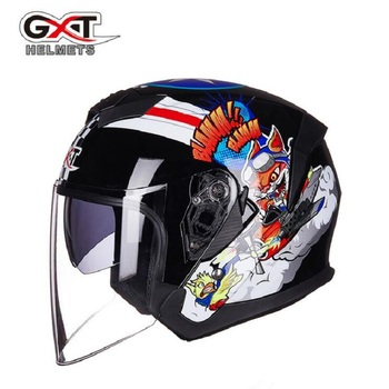 2018 Summer GXT Half Face Motorcycle Helmet G522 ABS Double lens Motorbike Helmets Knight safety protection equipment cap hat