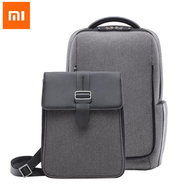Xiaomi Fashion Commuting Waterproof Backpack Removable Front Bag Capacity Men Backpacks Travel Laptop