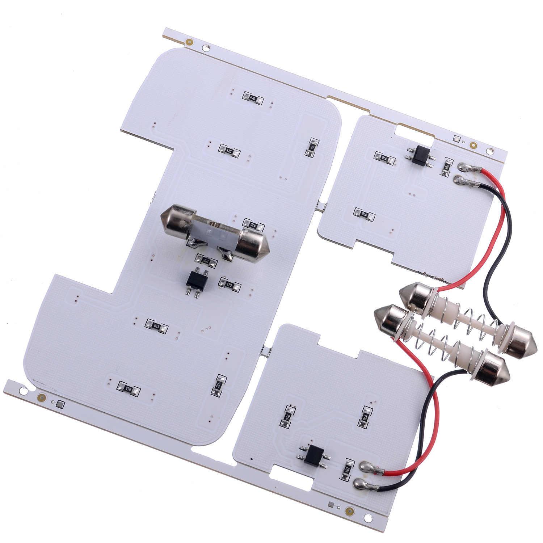 LED נורות עבור קאיה ריו K2 2006-2012 יונדאי solaris ורנה קריאת אורות כיפת מנורות LED פנים אורות לבן צבע מתאים