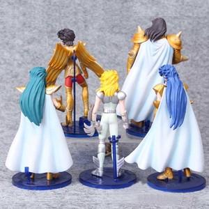 Image 2 - 5 sztuk/zestaw 15 cm Saint Seiya pcv akcja figurka zabawka japońskie Anime Saint Seiya manekin sklepowy zabawki urodziny dzieci Jouet prezent