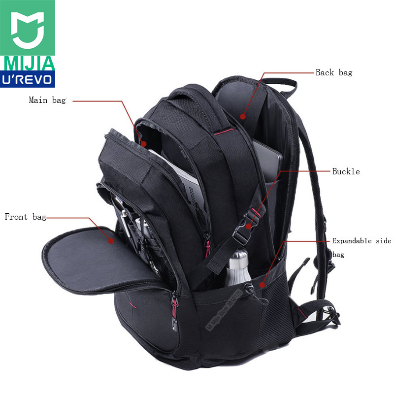 Xiaomi UREVO 25L Large Capacity Men s Backpack 15inch Computer Bag Waterproof Travel Bag Multi function