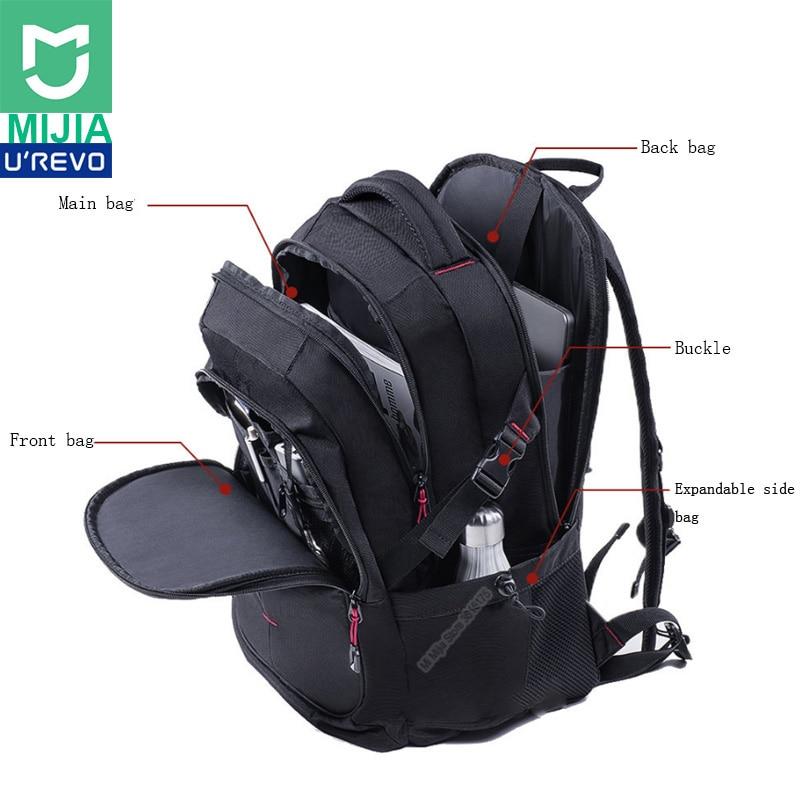 Xiaomi UREVO 25L 大容量男性のバックパック 15 インチコンピュータバッグ防水旅行バッグ多機能バックパック  グループ上の 家電製品 からの バッグ の中 1