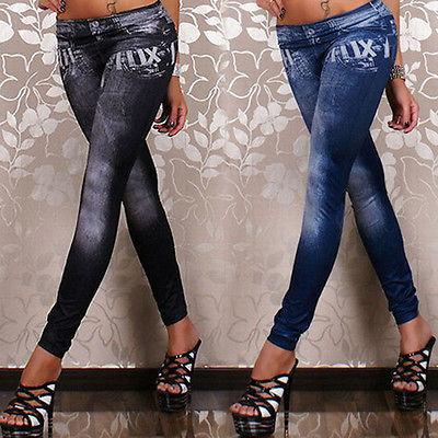 Fashion Denim Printed Leggings for Women