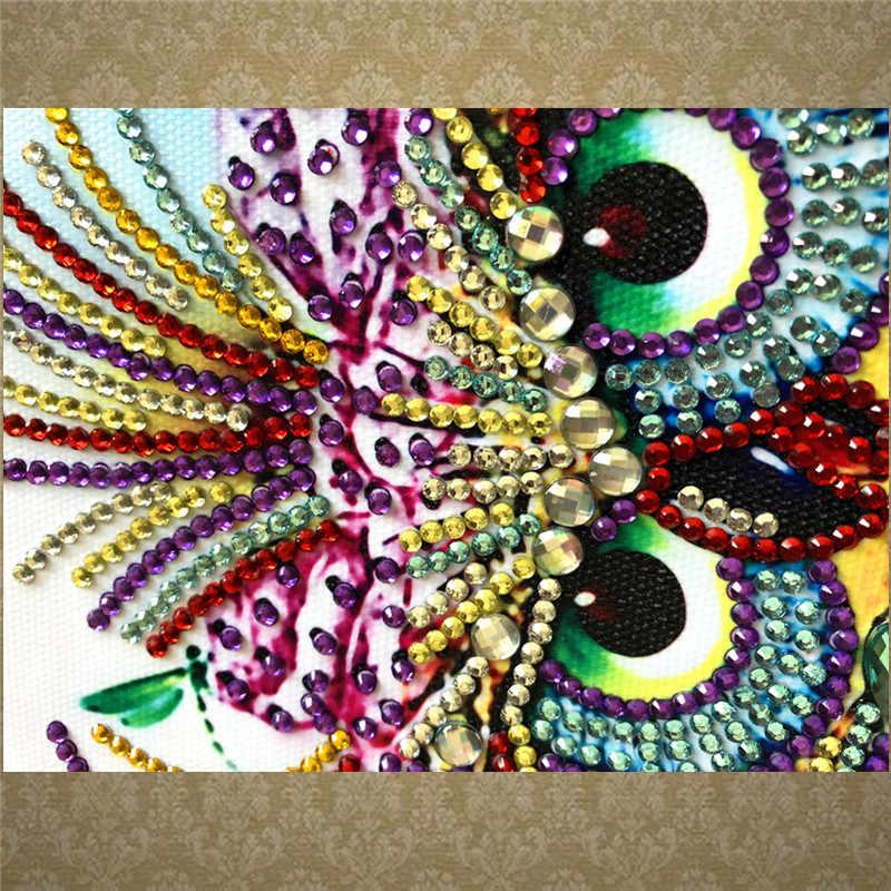 Инопланетянин, кристалл, мозаичная алмазная живопись, животное, Сова, узор, сделай сам, украшение дома ручной работы, шитье, 5D, алмазная вышивка