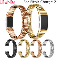 Aluminum alloy steel strip for Fitbit Charge 2 Band frontier/classic replacement wrist bracelet smart watch