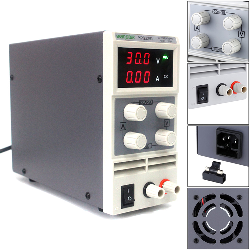2018 High precision adjustable DC Power supply 0-30V 0-5A switchable regulated power suipply for Lab Equipment Tool rps3020d 2 digital dc power adjustable power 30v 20a power supply linear power notebook maintenance