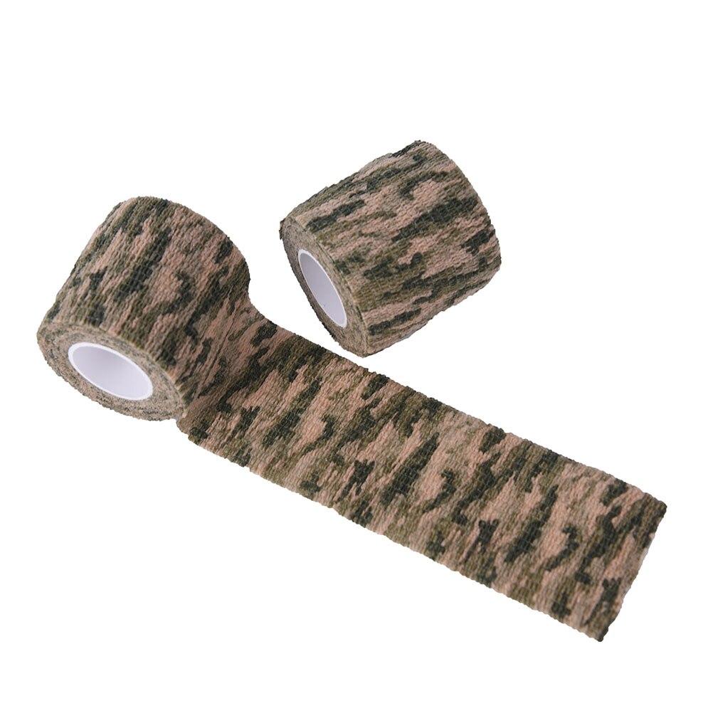 2 Pz 4.5 M Militare Stretch Benda Medica Rotolo Camouflage Wrap Bandage Camuffamento Nastro Adesivo Pistola Decor