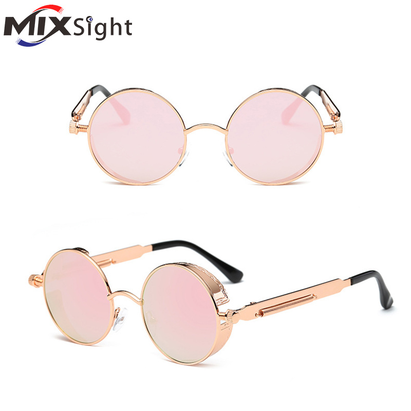Round Metal Cycling Eyewear Protective Antifog Glasses For Work Women Safety Welding Glasses Brand Designer Retro Vintage UV400