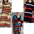 Mulheres Listrado tricô vestido de Maternidade para grávidas gravidez roupas gestantes roupa robe de grossesse premama hamile giyim