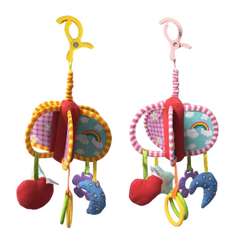 2018 Нові дитячі іграшки для дитячих ліжечок і колясок Плюшеві іграшки Автомобільний токарний верстат, що висить дитячі брязкальця мобільний 0-12 місяців