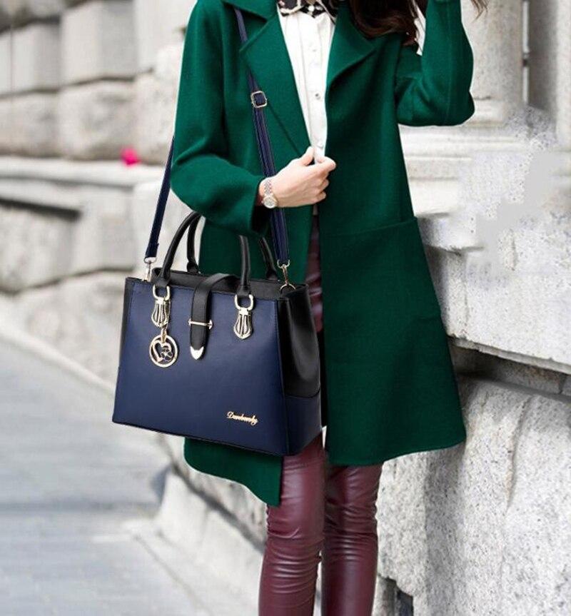 Modna elegancka skórzana duża torebka damska do ręki na