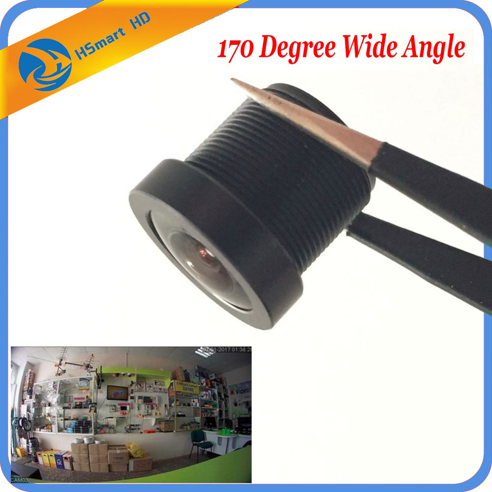 CCTV 1.8mm Security Lens 170 Degree Wide Angle CCTV fish eye Lens For IR Board CCTV HD AHD TVI CVI IP Camera M12x0.5-in CCTV Parts from Security & Protection