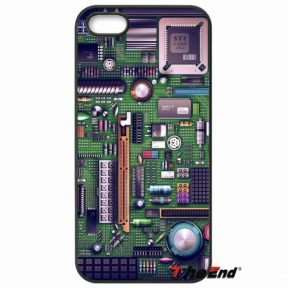 Phone Computer Circuit Board Print Case Cover For Moto E E2 E3 G G2 G3 G4 G5 Plus X2 Play Nokia 550 630 640 650 830 950 In Half Wrapped From