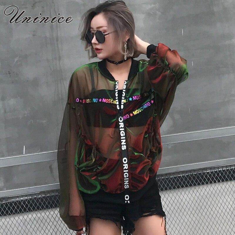 Uninice clothing verano protector solar capa de la chaqueta de las mujeres carta