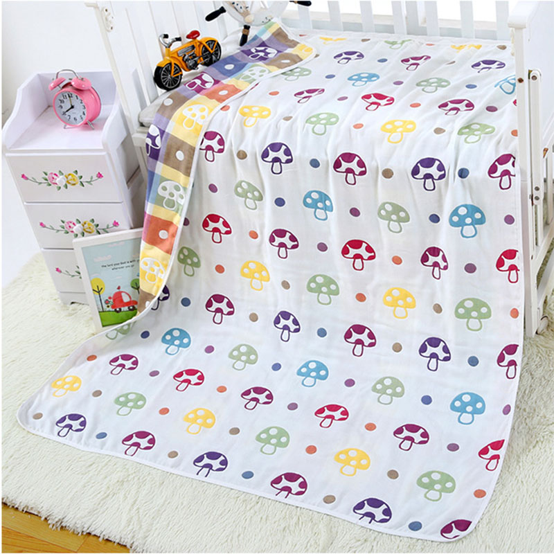 6 Layers Muslin Cotton Baby Blanket Swaddles Newborn Wrap Gauze Crown Children Blankets Infant Bath Towel Baby Quit 120x150cm 6 layers muslin cotton baby blankets swaddles newborn wrap gauze crown children blankets infant bath towel size 150 200cm