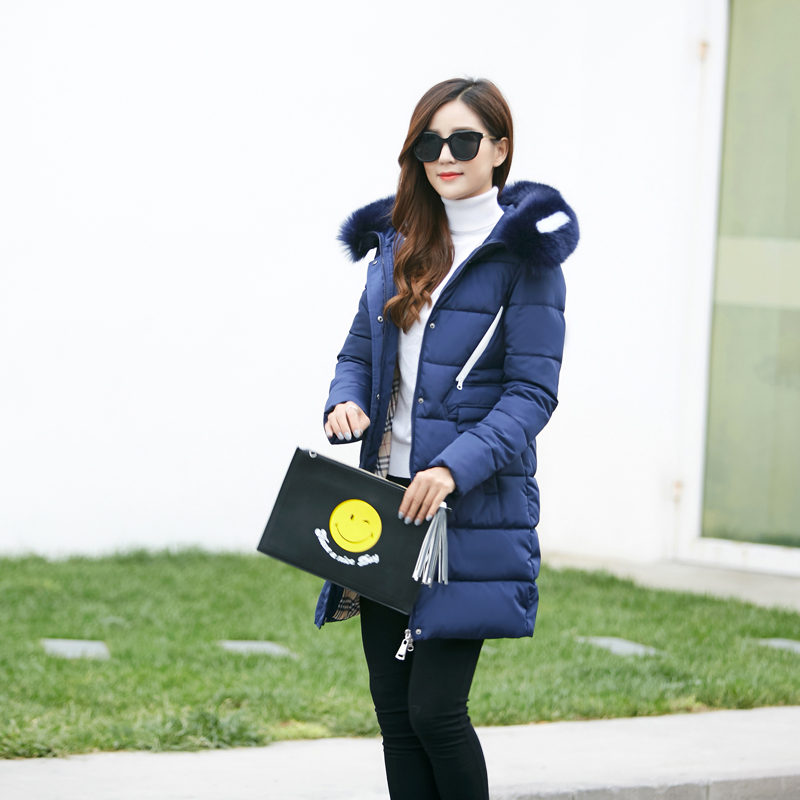 fashion down coat womens quilted female winter jackets jacket parka women 2016 long full sleeve Thick slim miegofce icebear down