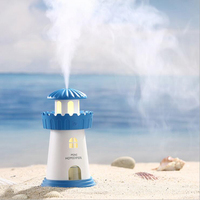GRTCO 2 Spary Modes 150ml Lamp Lighthouse Air Humidifier USB Led Air Diffuser Purifier Atomizer Tower