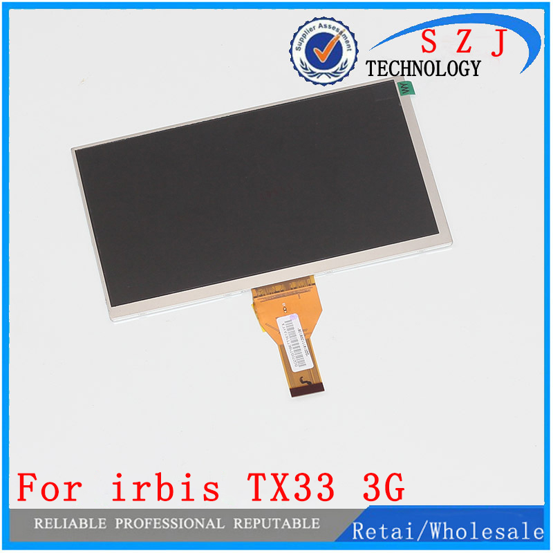 New 7'' inch LCD Display Matrix For irbis TX33 3G TABLET LCD Screen Panel Lens Frame Module replacement Free Shipping new lcd display for 7 85 inch flylife connect 7 85 3g 2 tablet lcd screen matrix replacement panel free shipping