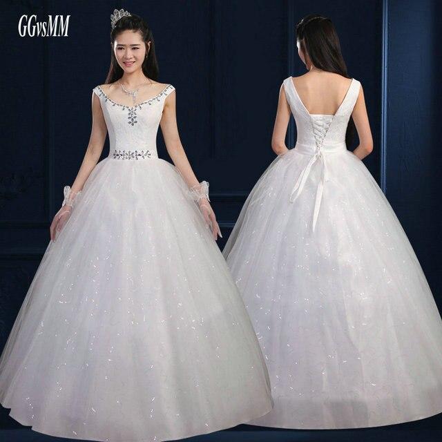 High Quality Ivory Wedding Dresses Plus Size Long White Wedding ...